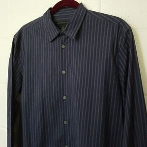 JOHN VARVATOS USA LUXE MENS L/S STRETCH BUTTON FRO